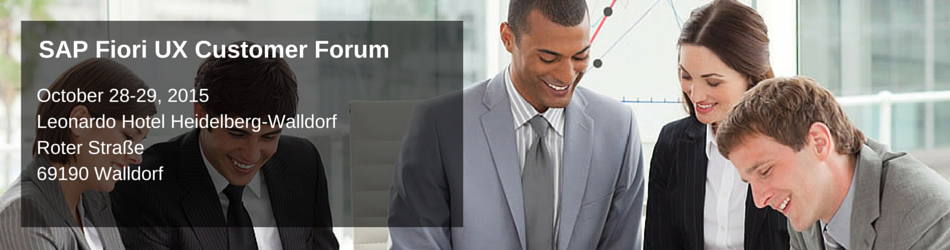SAP Fiori UX customer Forum