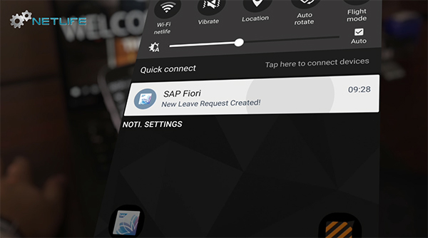 Netlife's push notification for SAP Fiori Implementation