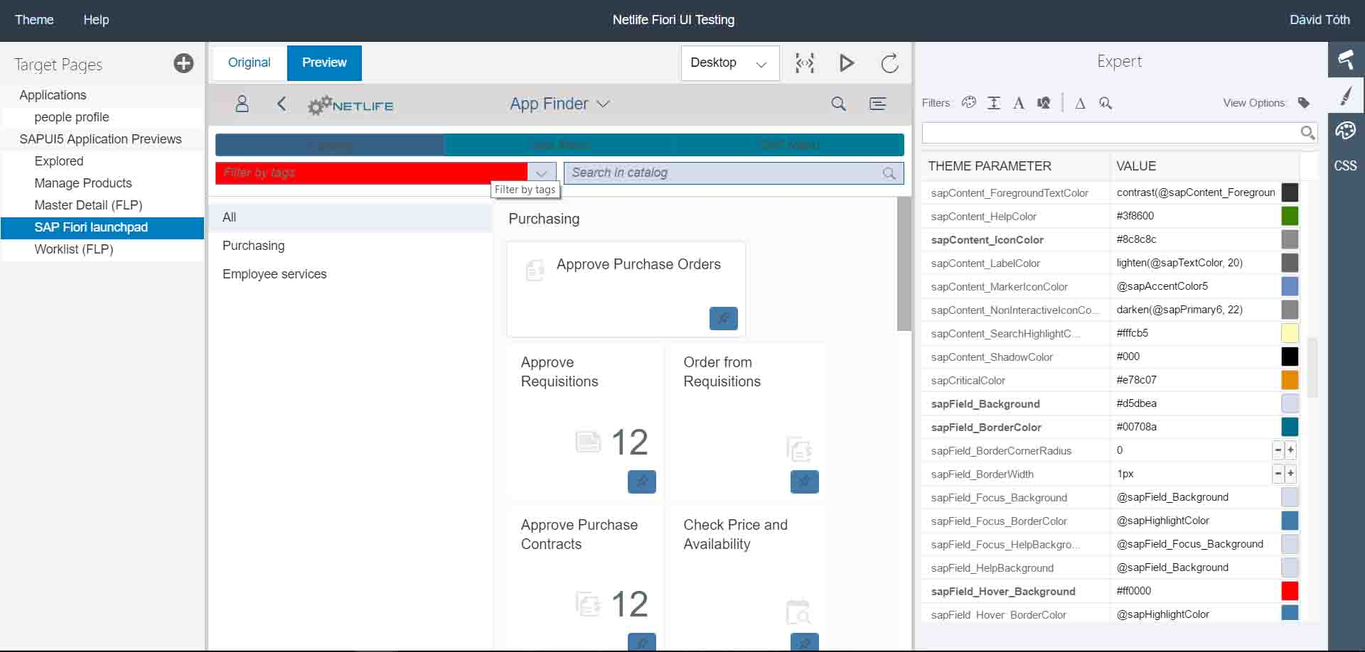 My first experience with SAP Fiori Theme Designer – SAP