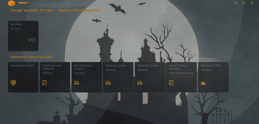 A very creepy Halloween theme in SAP Fiori!